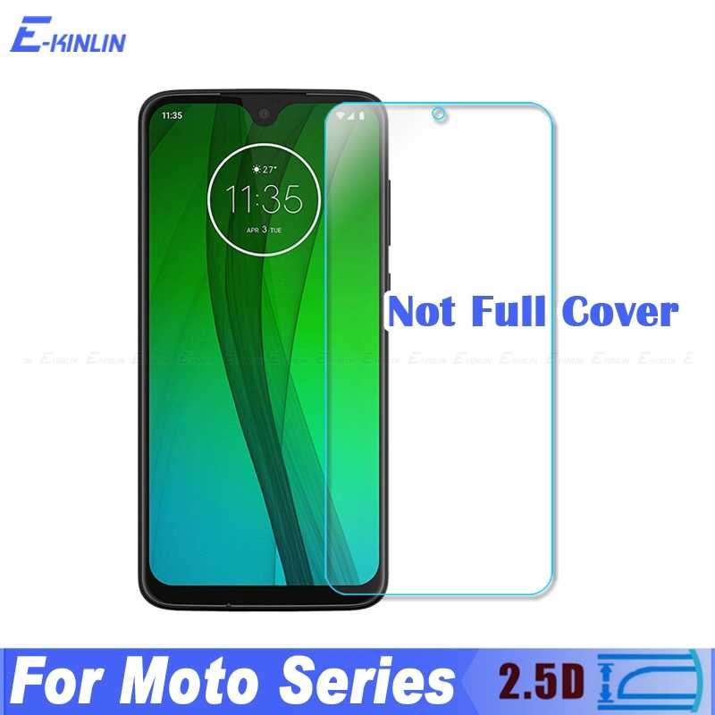 2.5D Tempered Glass Protective Film For Motorola Moto One Power Vision G7 G6 Play G5S G5 E5 E4 Plus Z3 Z2 Force Screen Protector