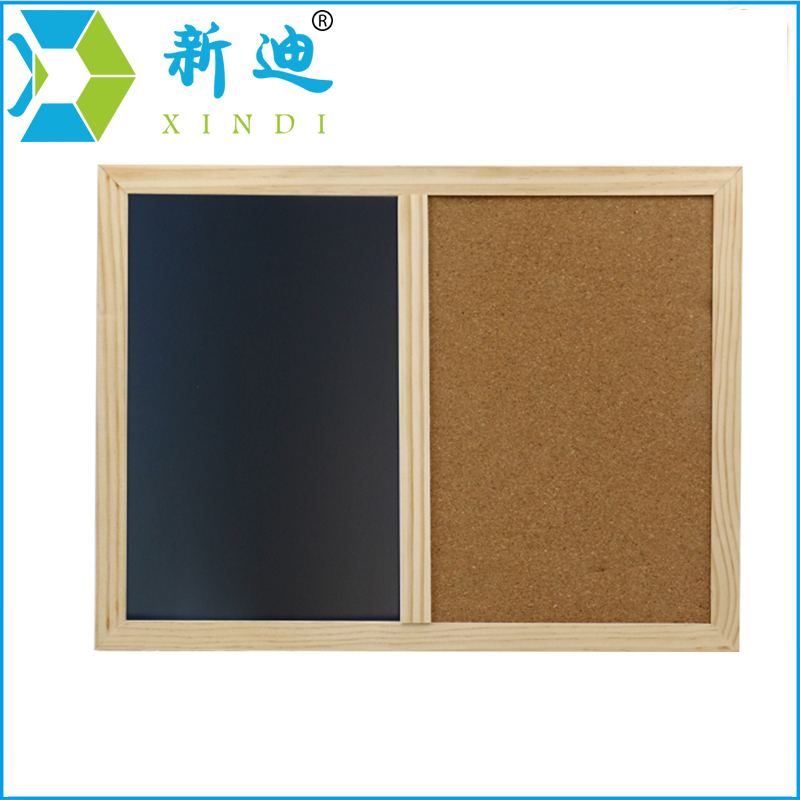 XINDI New 2018 Wooden Frame 60*40cm Cork Board Magnetic BlackBoard Combination Message Boards Office Supplier Chalkboard xindi 30 40cm combination whiteboard cork board combination wood frame magnetic whiteboard with free marker pens free shipping