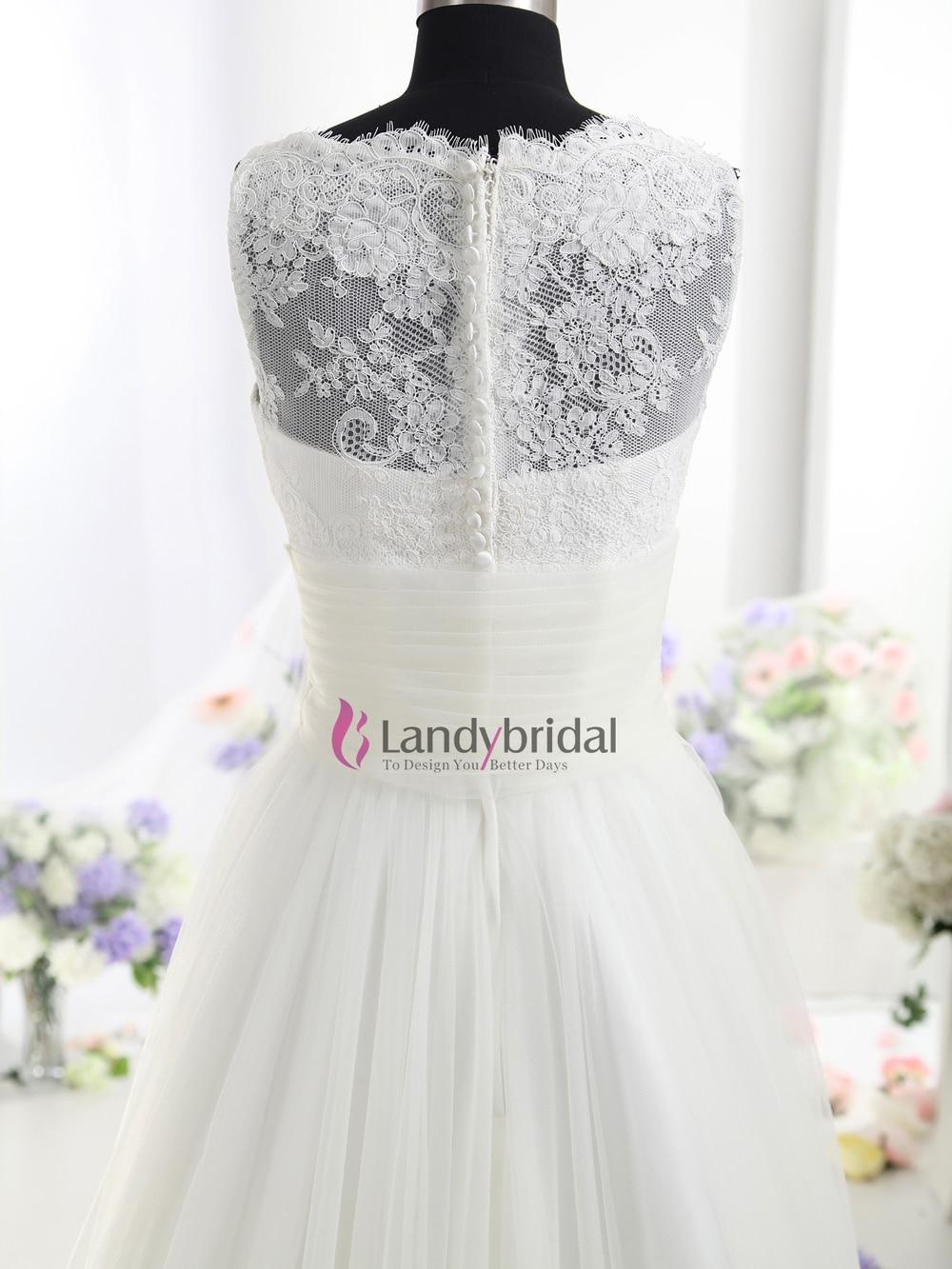 tank top wedding dresses Aliexpress com Buy Lastest Style High Nekline Lace Bodice Tank Top Wedding Dress from Reliable dress wear wedding suppliers on Suzhou Landy Bridal Gown