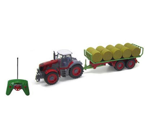 <font><b>RC</b></font> Car Farm Tractor <font><b>Truck</b></font> 2.4G Multi-Function 4 <font><b>Wheel</b></font> Tractor Engineer Vehicle Tractor Model Children Hobby Toys For Children image