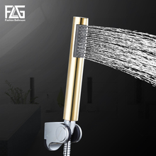 FLG Golden ABS Plastic Universal Water Saving Hand Held Shower Head Home Rain Spout Spray