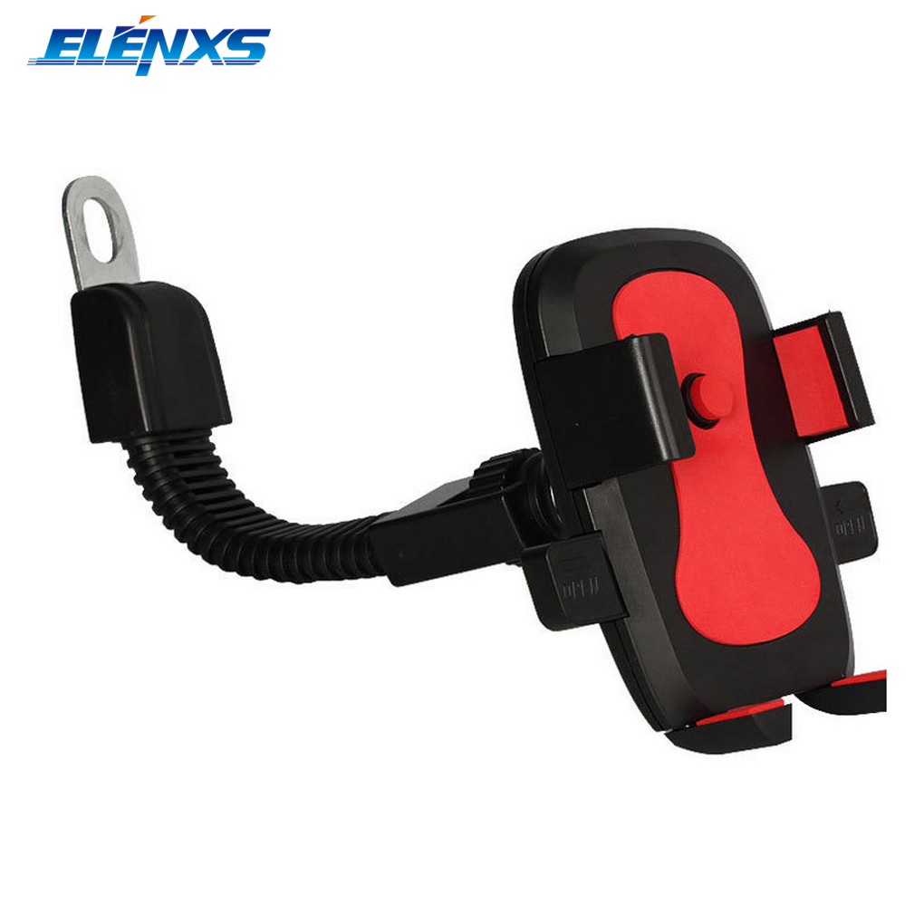 360 Degree Rotation Bike Motorcycle GPS Cell Phone Anti-slip Stand Holder Mount for 3.5-7 inch