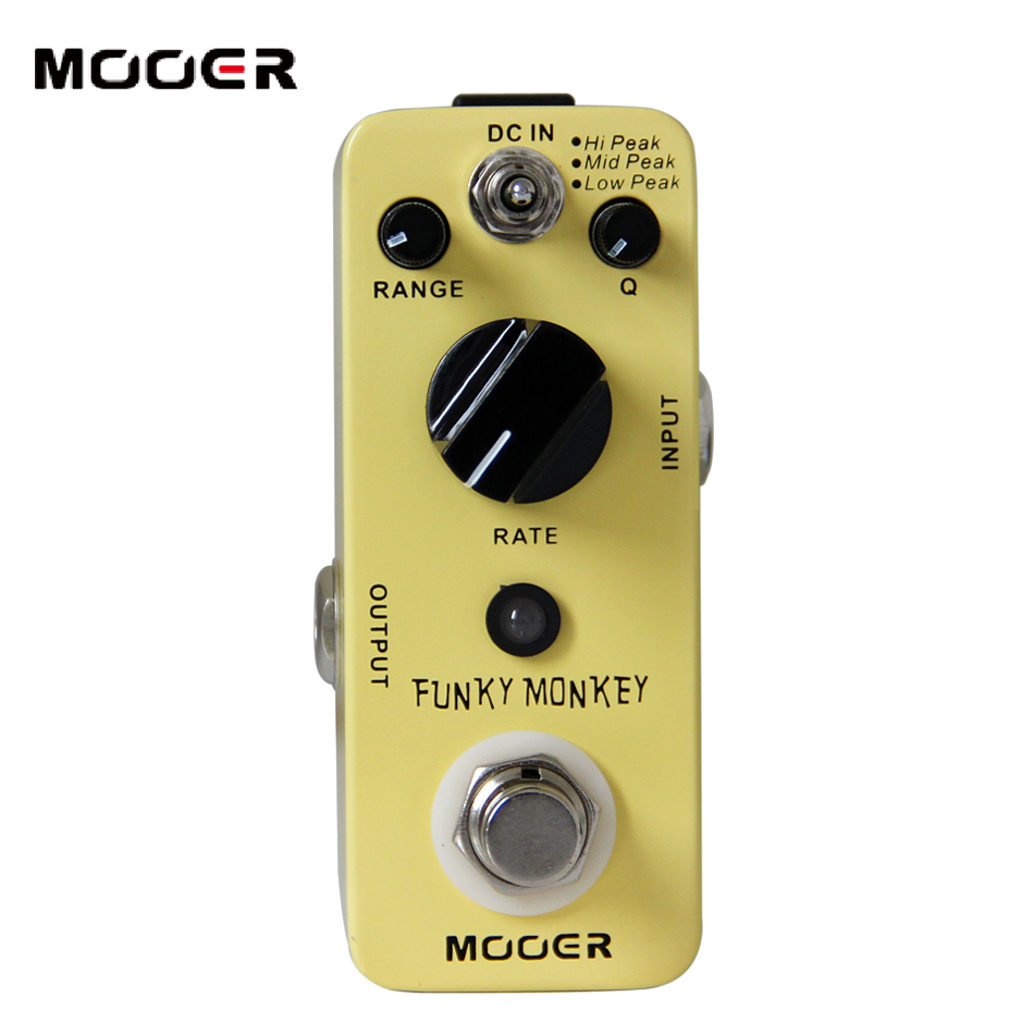 MOOER Micro Series Compact Auto Wah FUNKY MONKEY Effect Guitar Pedal mooer funky monkey auto wah pedal wide adjustable range auto wah effects effect pedals free shipping