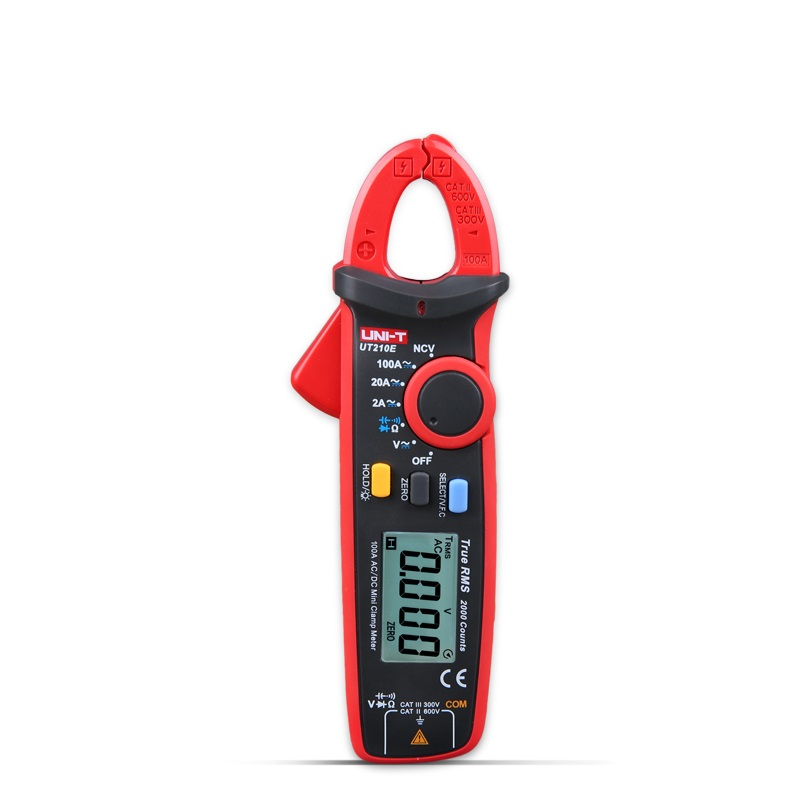 UNI-T UT210E Digital Multimeter True RMS AC/DC Current Mini Clamp Meters Capacitance Tester Digital Earth Ground Multimeter true rms uni t ut210e mini digital clamp meters ac dc current voltage auto range capacitance tester non contact multimeter diode
