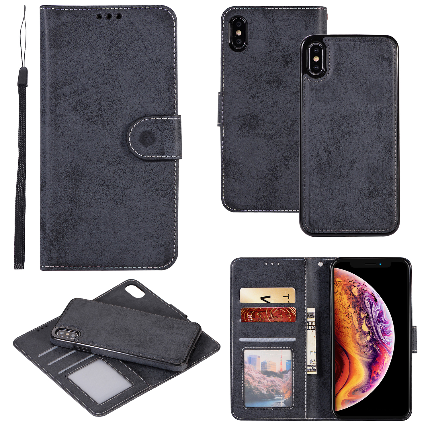 XR Shell For iPhone XS Max Case Retro Leather Wallet 2 in 1 Magnetic Detachable Flip Case For iPhone 5 SE 6 8 7 Plus Cover CoqueXR Shell For iPhone XS Max Case Retro Leather Wallet 2 in 1 Magnetic Detachable Flip Case For iPhone 5 SE 6 8 7 Plus Cover Coque