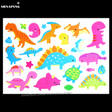SHNAPIGN Dinosaur Park Children Cartoon Temporary Tattoos Sticker Fashion Summer Style Elsa Waterproof Girls Kids Boys Hot