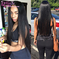 7A pelo virginal Ruso Recta paquetes de pelo 3 Unids ser yo productos para el cabello Recto Ali express UK barato Remy del pelo humano extensiones
