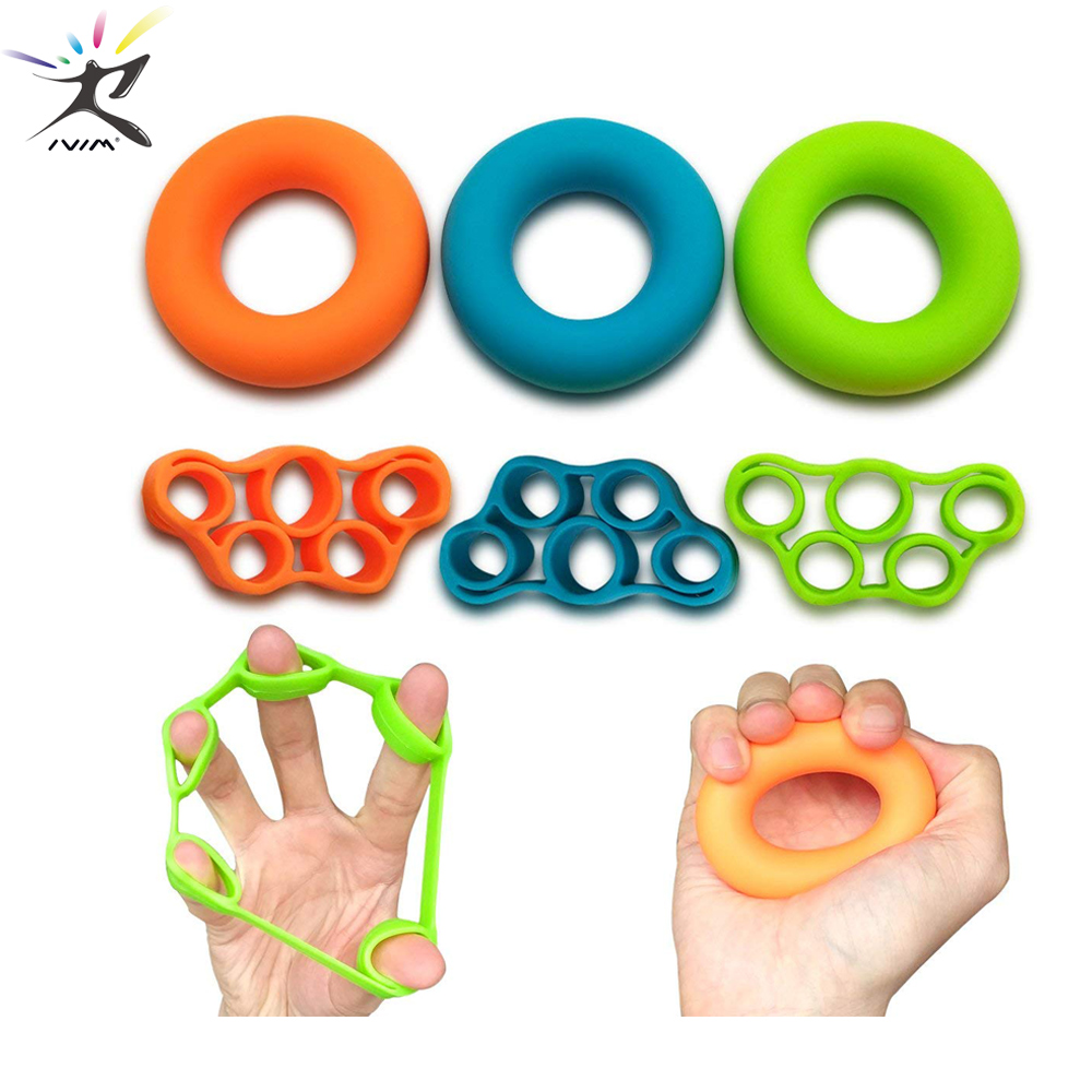 Finger Resistance Bands Hand Grip Ring Finger Hand Power Training Bands Hand Training Stretcher Exercise Pull Ring Fitness Bands
