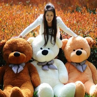 78 200cm Giant Size Finished Stuffed Teddy Bear Christmas Gift Hot Sale Big Size Teddy Bear Plush Toy Birthday Gift fancytrader new style teddt bear toy 51 130cm big giant stuffed plush cute teddy bear valentine s day gift 4 colors ft90548