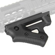 Tactique CS jeu Triangle de combat poignée en Nylon pouce Airsoft Grip pour 21mm 22mm largeur Rail noir jouet pistolet accessoires de chasse