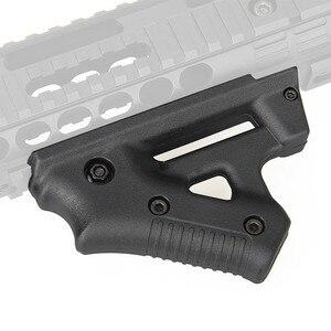 Image 1 - Taktische CS spiel Dreieck kampf Grip Nylon Daumen Airsoft Grip Für 21mm 22mm Breite Schiene schwarz Spielzeug Pistole jagd Zubehör