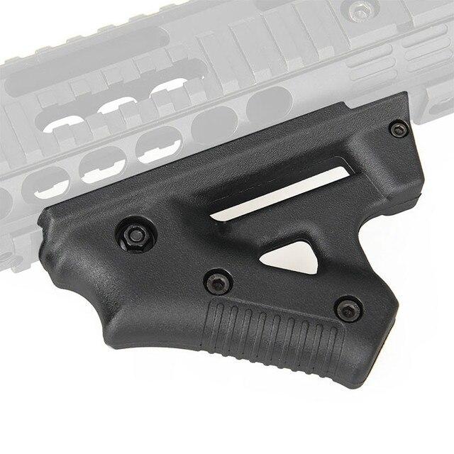 Taktische CS spiel Dreieck kampf Grip Nylon Daumen Airsoft Grip Für 21mm 22mm Breite Schiene schwarz Spielzeug Pistole jagd Zubehör