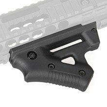 Taktyczne CS gra trójkąt walki uchwyt Nylon kciuk Airsoft uchwyt do 21mm 22mm szyny o szerokości czarny pistolet zabawkowy polowanie akcesoria