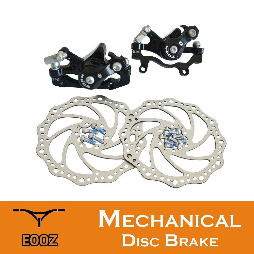 Nouveau ZOOM vtt VTT vélo frein à disque étriers paire avant et arrière adaptateur de montage 160mm rotors DB280