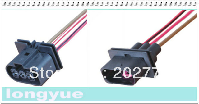 longyue 10kit 3way Universal Female and male Connector wiring harness kit new 15cm wire