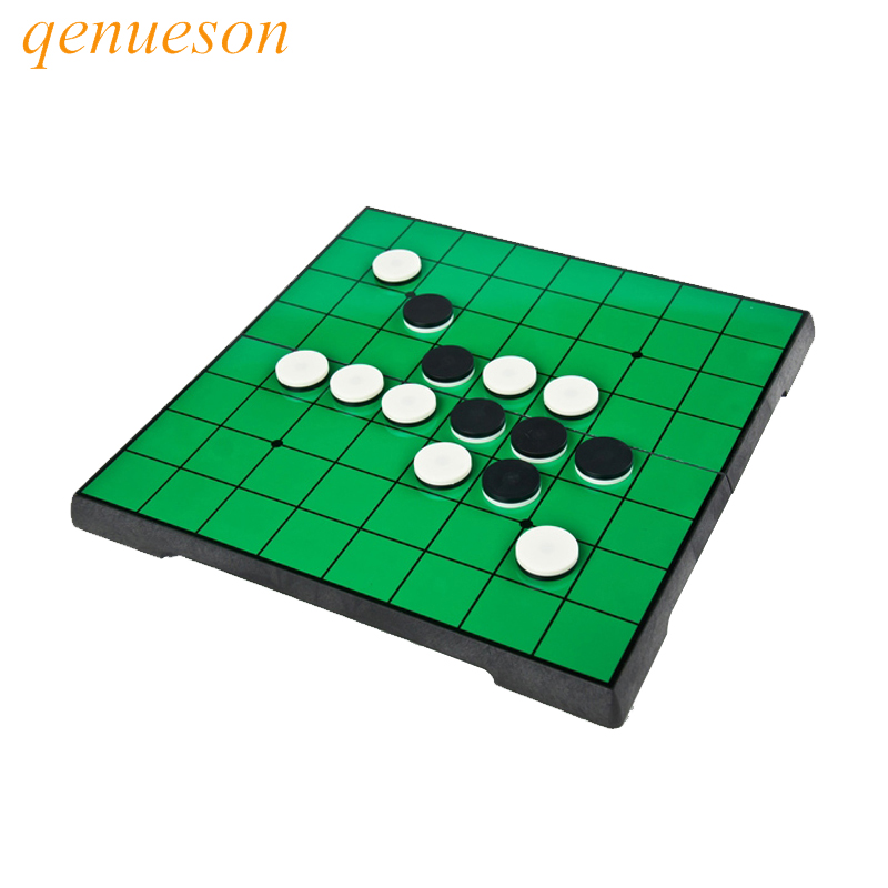 New launch Magnetic Portable flip chess and Folding Reversi Othello Board Chess Standard Educational parent-children Family Game