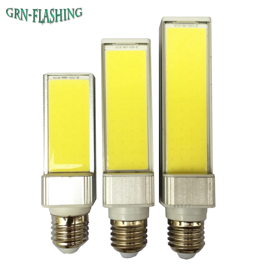 1Pcs Full Watt LED Bulbs 7W 9W 12W E27 COB LED Corn Bulb Lamp AC85-265V 180 Degree Spotlight Horizontal Plug Light energy efficient 7w e27 3014smd 72led corn bulbs led lamps