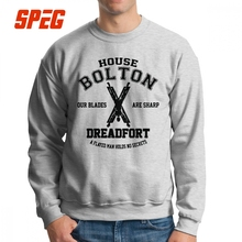 Mens Game Of Thrones House Bolton Dreadfort Sweatshirt Vintage Pullovers 100% Cotton Hoodie Warm