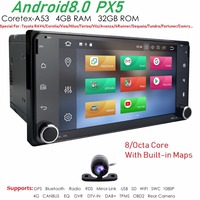 PX5 Android 8,0 Octa 4 Core Процессор 2 DIN Универсальное автомобильное радио автомобиль Nav gps стерео для Toyota Corolla Camry Prado RAV4 Hilux VIOS DAB системы контроля давле