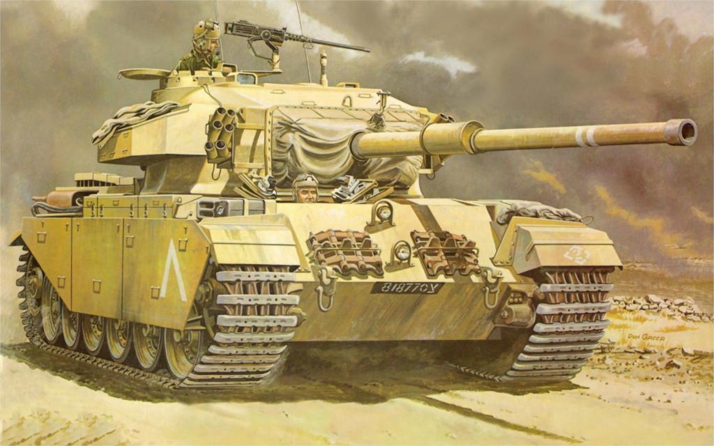 Group of Medium Tank Art