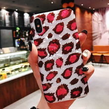 Glitter Leopard Phone Case For iPhone 7 8 6 6S Plus X XR XS MAX Soft Silicone Print TPU Shell Pattern Back Cover Cases Coque