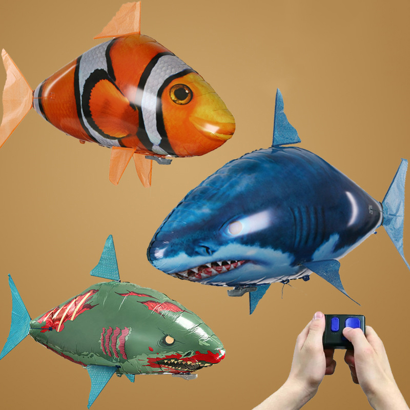 Remote Control RC Inflatable Balloon Air Swimmer Flying Nemo Clown Fish Blimp PP