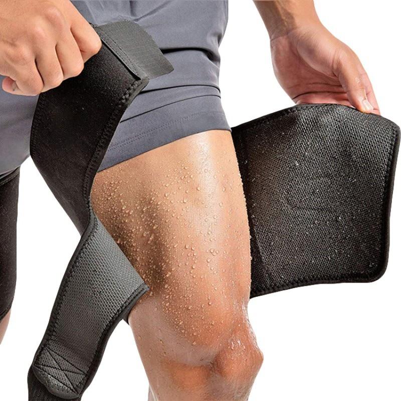 Adjustable New Men Women Thigh Brace Wraps Support Leg Warmers Breathable Neoprene Non-Slip Hamstring Compression Sleeve
