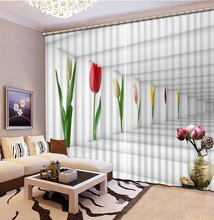 louts 3D Window Curtain Dinosaur print Luxury Blackout For Living Room space curtains