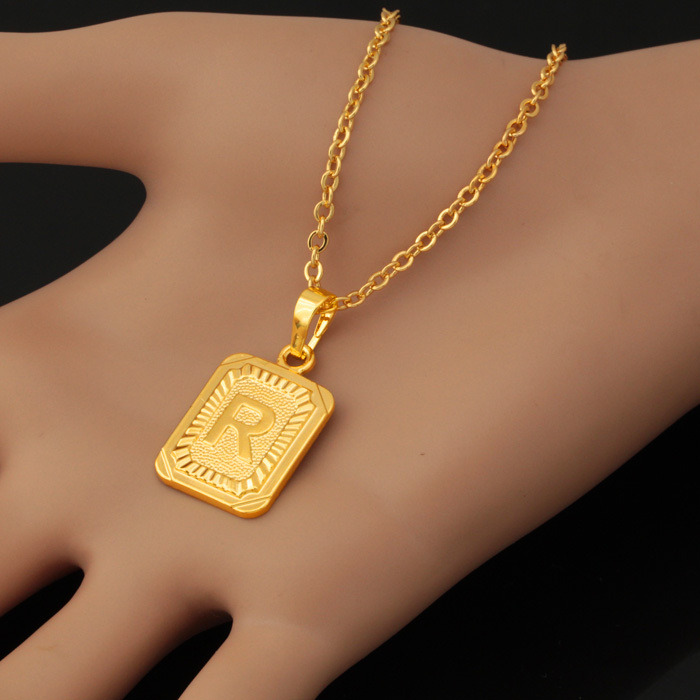 U7 goldsilver color fashion jewelry factory wholesale womenmen u7 goldsilver color fashion jewelry factory wholesale womenmen gift trendy r letter pendant necklaces p410 in pendant necklaces from jewelry accessories aloadofball Choice Image