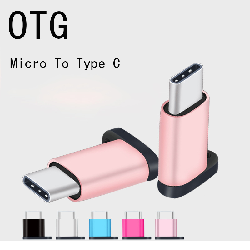 Thbelieve Micro USB To USB C Adapter Type C Micro USB Phone Adaptos With Keychain USBC Adaptors For Huawei Tipe C Drop Shipping (2)