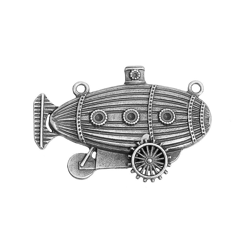Begeistert Doreenbeads Zink Legierung Auf Antike Bronze Silber Steampunk Anschlüsse Boot Getriebe Mode Diy Componets 49mm X 33mm Halsketten & Anhänger 2 Stücke Starker Widerstand Gegen Hitze Und Starkes Tragen