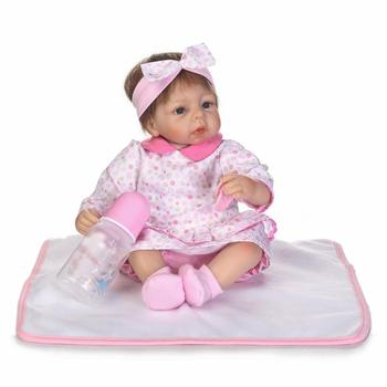 40cm Soft Silicone Reborn Baby Doll Fashion Toys Kids Play House Toys Girl Doll Handmade Lifelike Gifts Girls Dolls Collection
