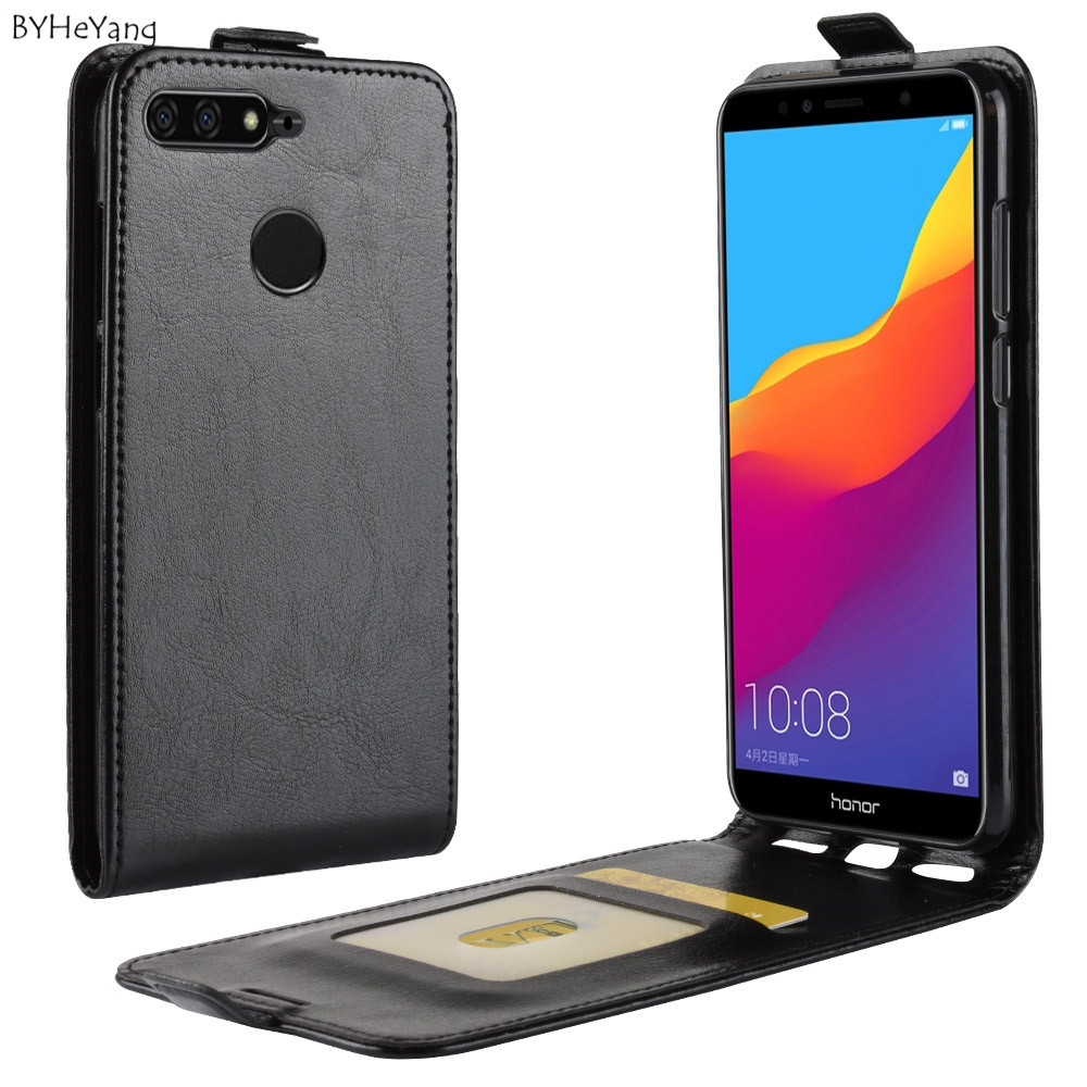 BYHeYang For Huawei <font><b>Honor</b></font> <font><b>7C</b></font> <font><b>Case</b></font> 5.7 inch Luxury Wallet PU Leather Phone <font><b>Case</b></font> For Huawei <font><b>Honor</b></font> <font><b>7C</b></font> AUM-L41 <font><b>Flip</b></font> Russian Version image