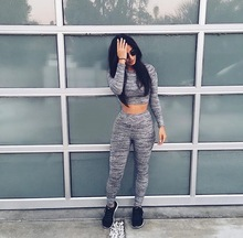 New 2016 Women bodycon jumpsuit Pants Sexy Bandage Rompers Long sleeve Two Piece Jumpsuits Set macacao feminino