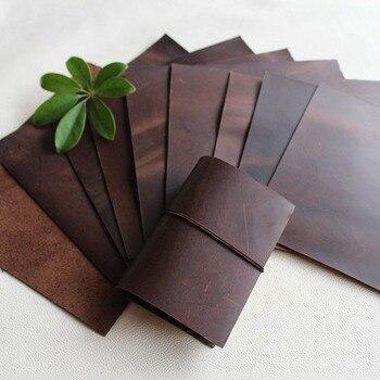 Szalony szalony koń skóra materiał Mapipi czarna kawa Retro handmade DIY TN notebook