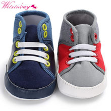 Newborn Spring Baby Shoes Classic Canvas Baby Boy Shoes Fashion Casual First Walkers Baby Girls Shoes(China)