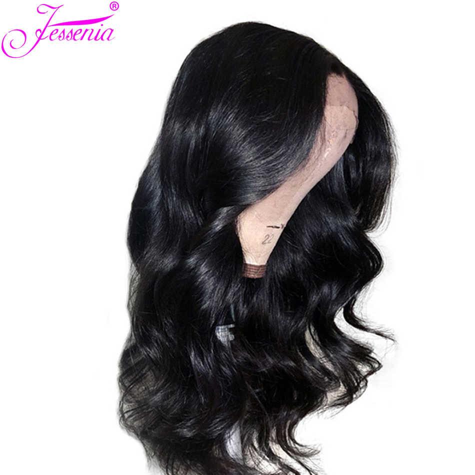 150 Плотность парики с волнистыми волосами для черных женщин Remy Glueless 13*4 Кружева передние человеческие волосы парики, бразильские волосы предварительно сорванные парики
