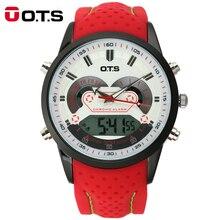 2016 de Los Hombres Del Reloj Digital de Cuarzo de Los Hombres Relojes Deportivos Relogio masculino OTS Choque Relojes Militar LED Relojes A Prueba de agua