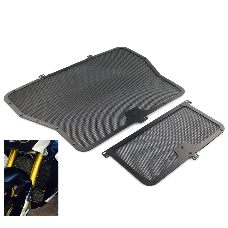 For BMW S1000XR S1000R S1000RR HP4 2009 2010 2011 2012 2013 2016 Motorcycle Radiator Guard Grill Oil Cooler Protector Black