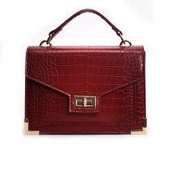 Miyahouse bolsas de luxo bolsas femininas designer padrão de crocodilo couro do plutônio bolsa ombro mensageiro bolsas bolsa mujer