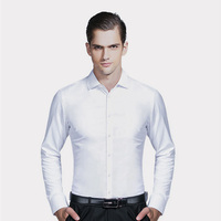 Brand Clothing Casual Men Shirt Long Sleeve Slim Fit Luxury Shirt Male Non Ironing Youth Dress