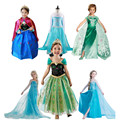 Nova Elsa Anna meninas princesa vestido para o verão meninas vestido de festa meninas roupas, Crianças roupas infantis fantasia vestido de Menina