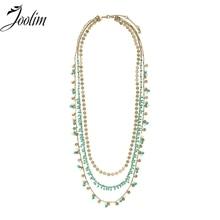 Joolim ювелирные изделия оптом/Этнические богемные Кабриолет 3 ряда слоистых Цепочки и ожерелья Модные украшения accssories