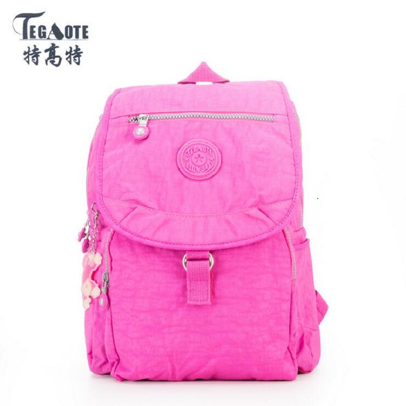 a2268beadb 2017 Fashion TEGAOTE Women Backpack High Quality Youth Nylon Cute Backpacks  for Teenage Girls Female School Shoulder Bag Bagpack-in Backpacks from  Luggage ...