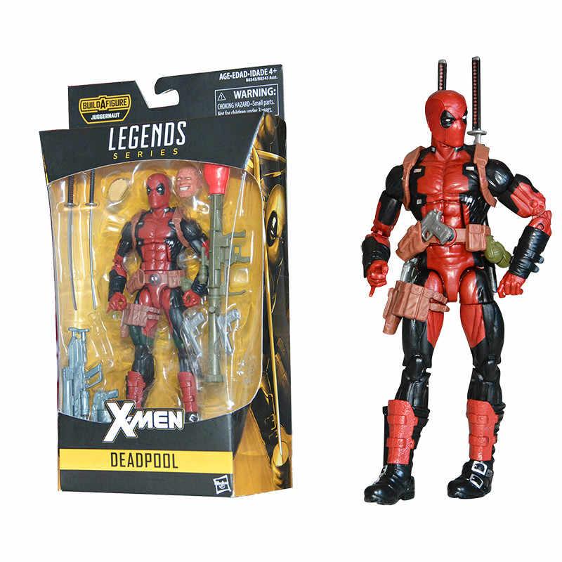 Deadpool Marvel Avengers X-Men Legends Ação PVC Figura Brinquedos Anime Colecionáveis Brinquedos Modelo Boneca Móvel Melhor Presente