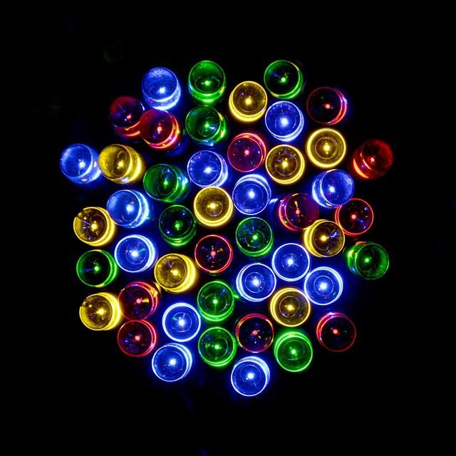 LederTek Waterproof LED Solar Lamp 12M 100 LED 8 Modes Strip Fairy Lights Solar Light For Garden Decoration Outdoor Lighting