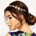 Nuevo estilo Bohemio de Oro retrato de la cabeza Accesorios Para el Cabello Joyería Del Pelo banda de Pelo de Las Mujeres de La Vendimia