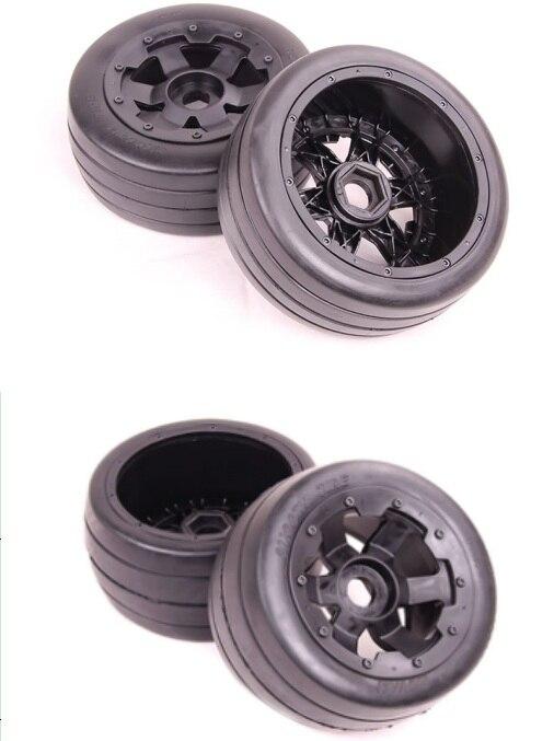 슬릭 휠 타이어 x 4pcs (2pcs 전면 및 2pcs 후면) hpi baja 5b ss 용-에서부품 & 액세서리부터 완구 & 취미 의  그룹 1