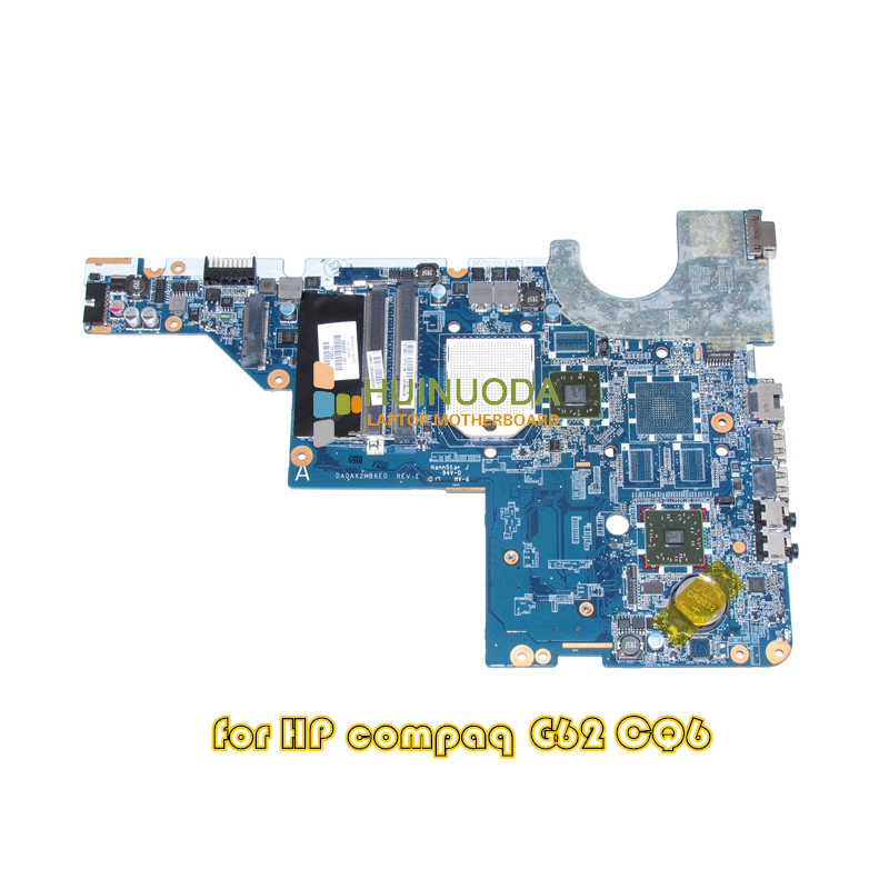 ФОТО 592808-001 Laptop motherboard For HP Compaq G42 CQ42 G62 CQ62 Socket s1 DDR3 with Free CPU Main Board