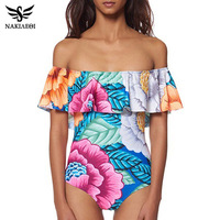 2016 New One Pieces Swimsuit Queen Style White And Black For Women Plus Size Swimwear Sexy
